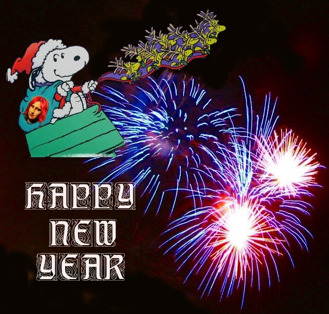 Snoopy New Year Mona bigger