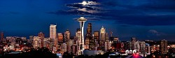 Nighttime Seattle Panorama