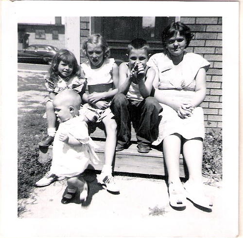 160-Louine, Uncle Del, Aunt Pat, Mom and Unknowns