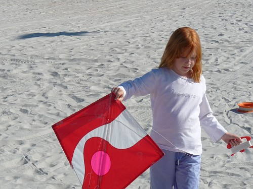 Saturday -- Rosalie and her kite.