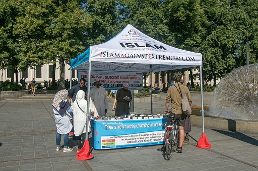Islam Against Extremism tent