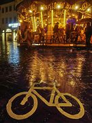 Radweg im Regen