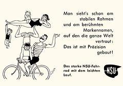 NSU - starkes Fahrrad mit leichtem Lauf