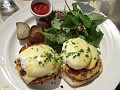 Le Singe Vert ~ Eggs Benedict with Crab Cakes