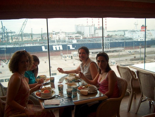 Lunch at Le Vele, Deck 11, served from noon on embarkation day