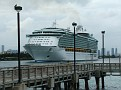 Liberty of the Seas heads down the channel