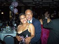Ms Sandra Ledan enjoying the party in the company of Manny Ardouin