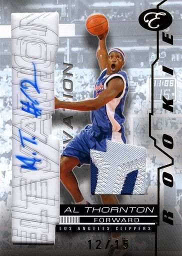 2007-08 Bowman Elevation Rookie Writings Patch Al Thornton (1)