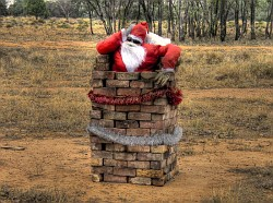 Aussie Santa in the bush