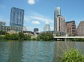 View of Austin sky line at Town Lake