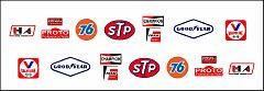 RCA-002 Sponsor decals (same as included with RCA-001), DKK 30,- / € 4,