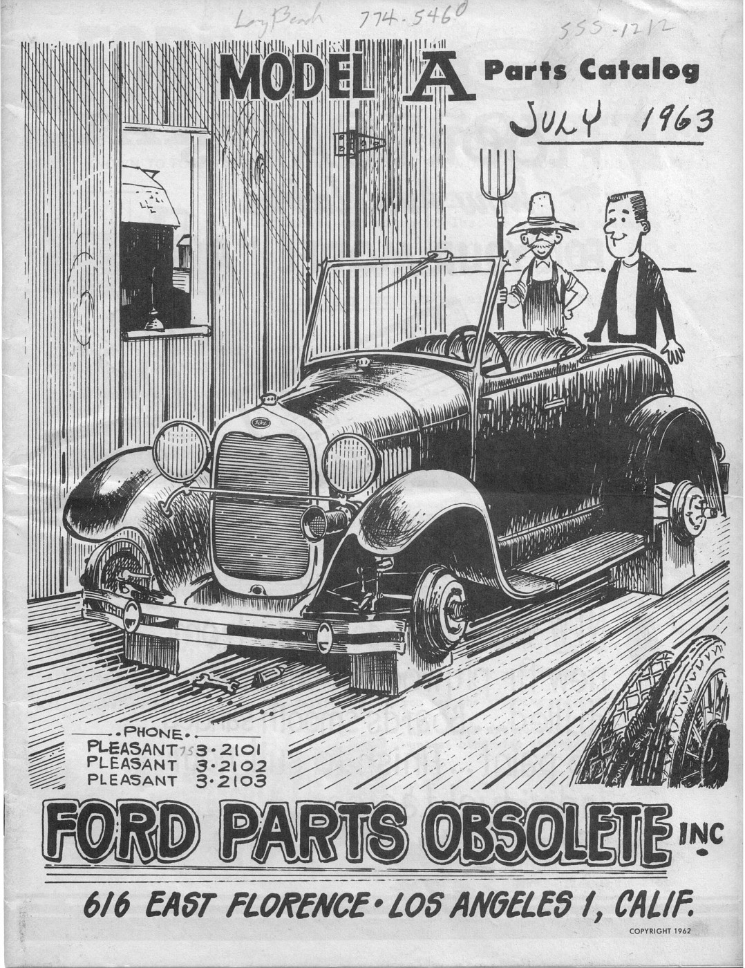 ford parts obsolete long beach  catalog  ford barn