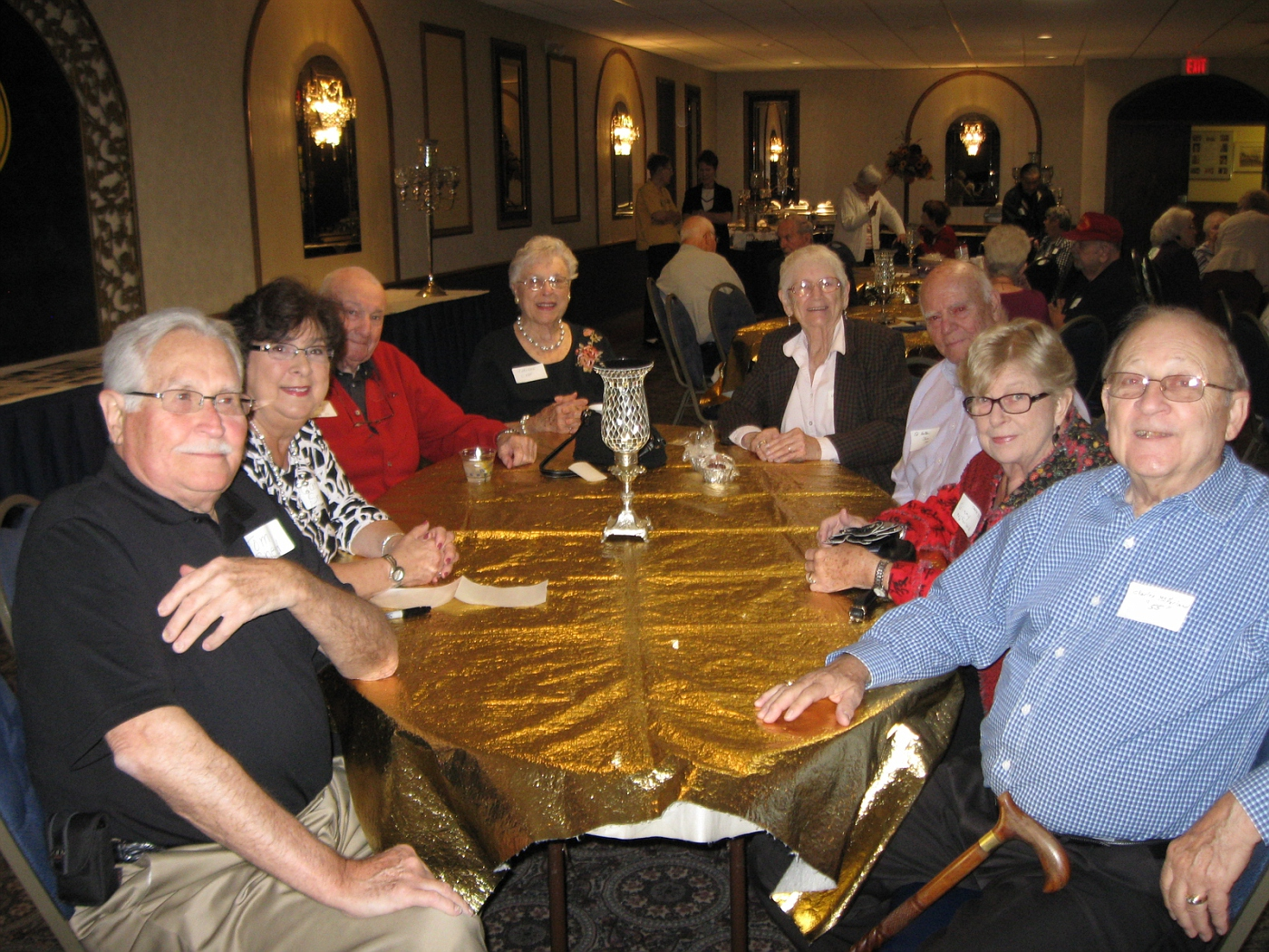 Tom Sneed and wife, Charlie and Marlene Cady, Helen and Ed Hahler, Blank and Charles McFarland