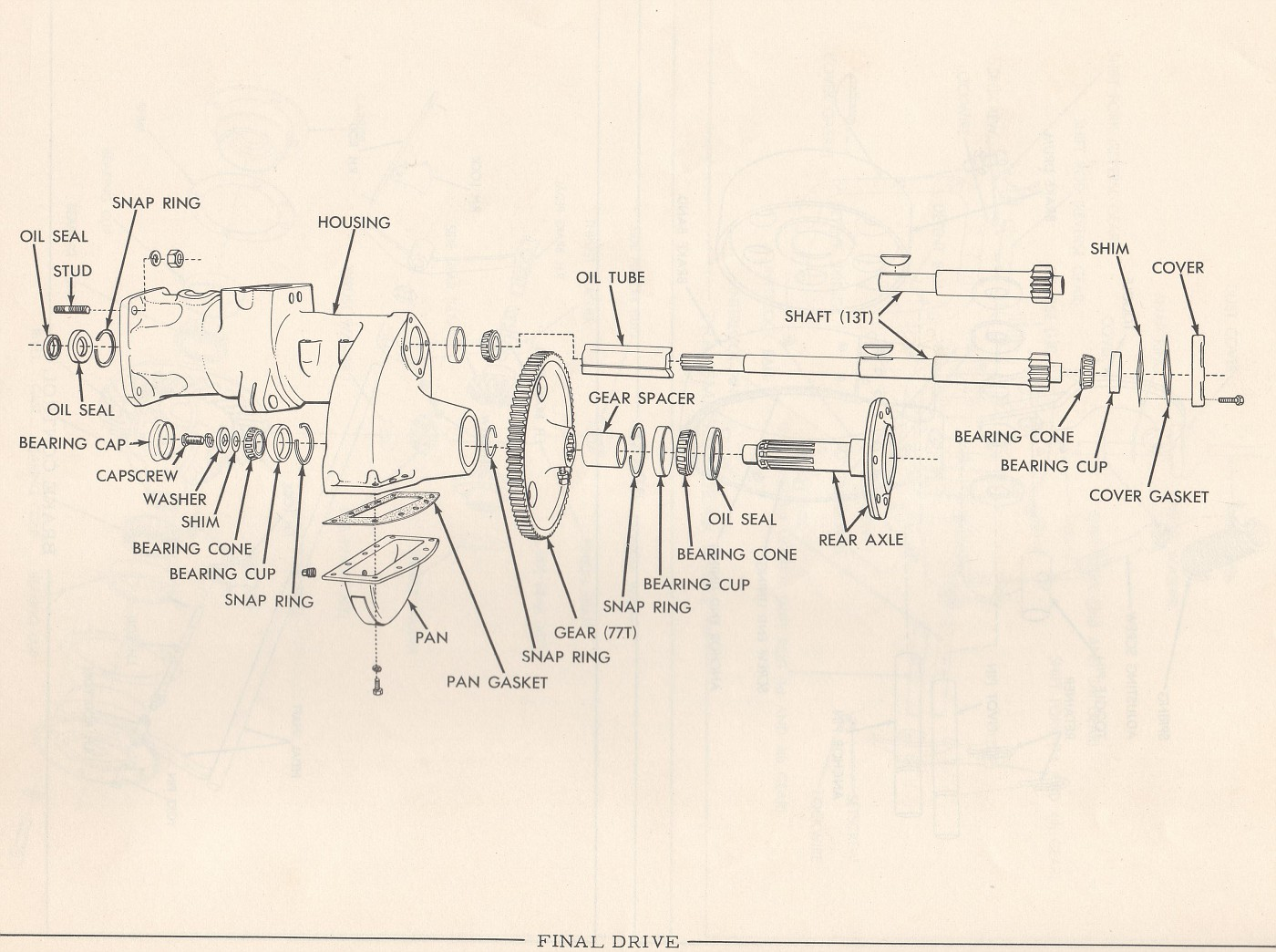 Dropped Washer While Installing New Brakes On Ca Allischalmers Allis Chalmers Tractor Wiring Diagram Of The Housing If By Chance It Did Get Between Drum And Brake Band You Most Likely Will Have To Remove Re Install