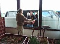 015. Trudy + couple from France put the plants in the sale hall