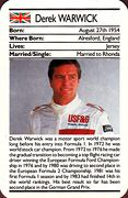 1987 Ace Fact Pack Derek Warwick