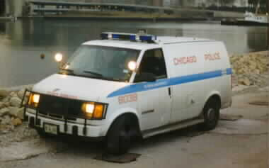1992 Chevy Astro prisoner transport van