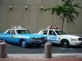 Old and new NYPD cars