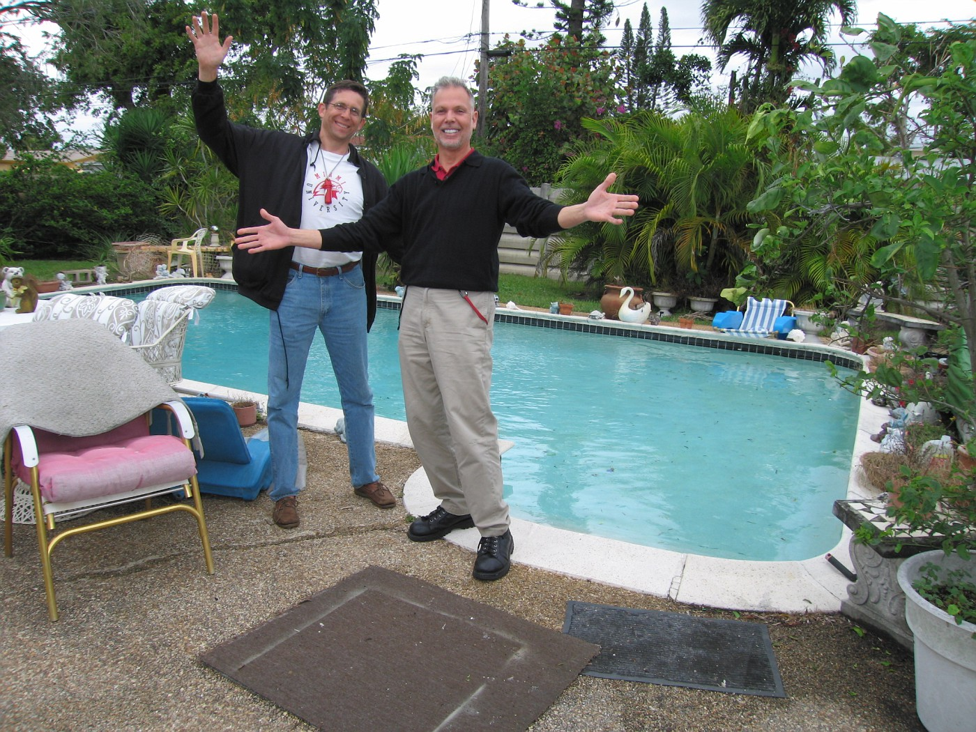 Visiting my Cousin, Gertrude in Hollywood, Florida.