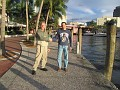 Along the Inter-Coastal Waterway in Ft  Lauderdale, Florida.  The Sun is coming out!!!  Yaaaaa!!!