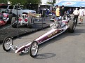 Dragster from Australia on display at start line
