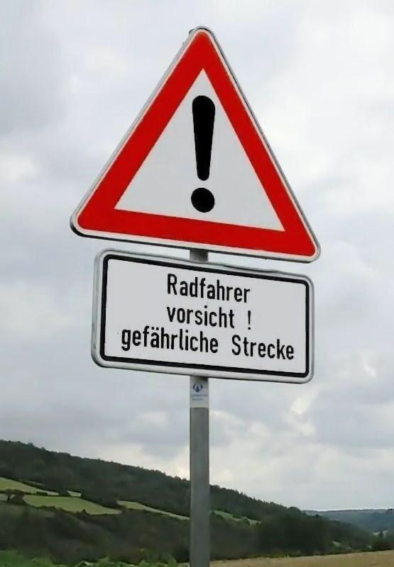 Gefährliche Strecke!