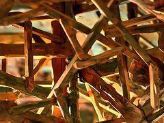 Holzkonstruktion der Flurdecke