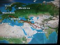 Munich, Germany to Delhi, India.  Flying over Bulgaria / Turkey / Iran / and Pakistan.  Looking up at the clear star studded Night Sky from my window seat at over Iran at 39,000 feet was an incredible thought and feeling!!!