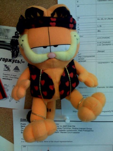 Checkin Garfield