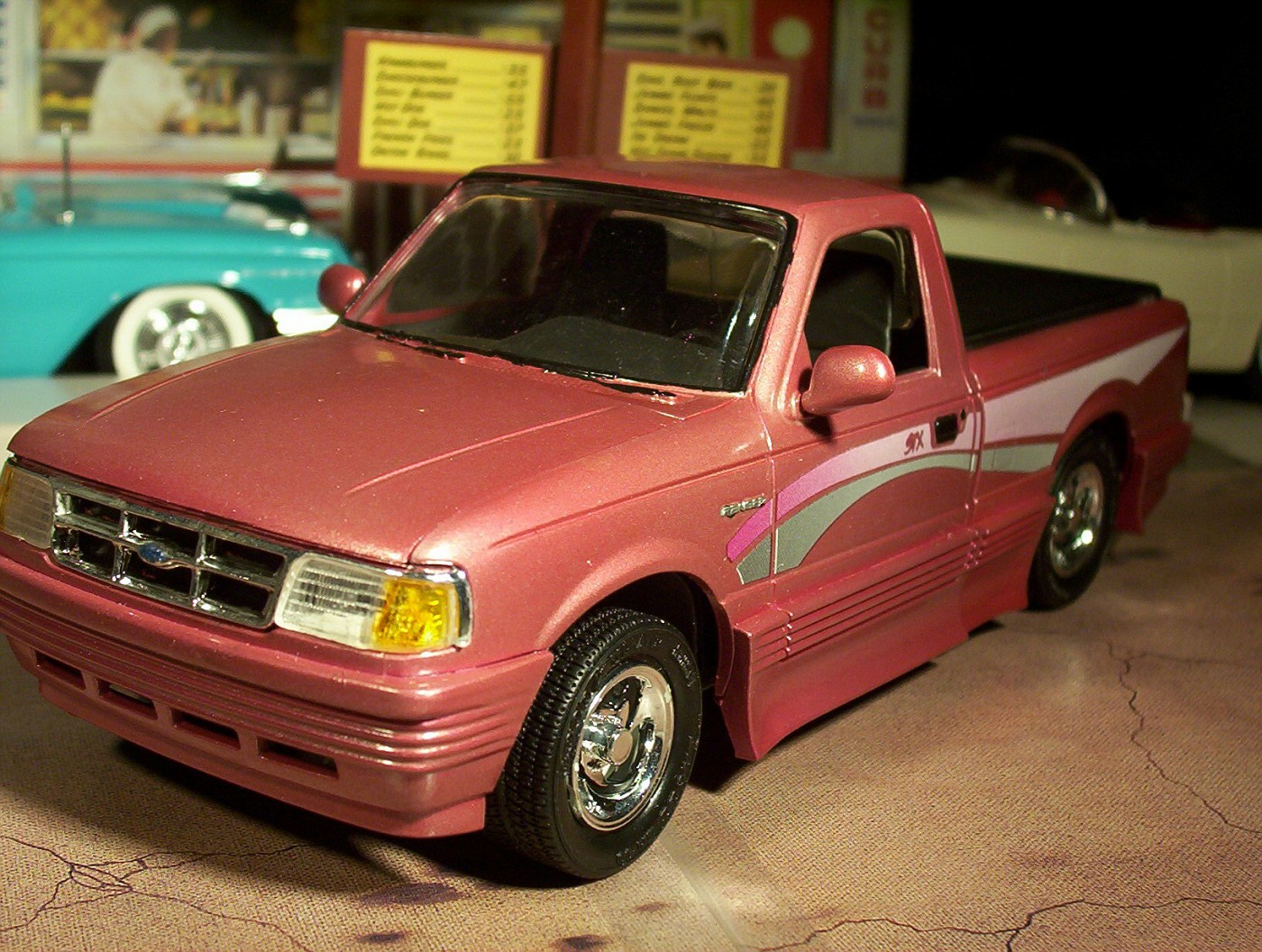 Ford Ranger Pink With Custom Graphics And Ground Effects
