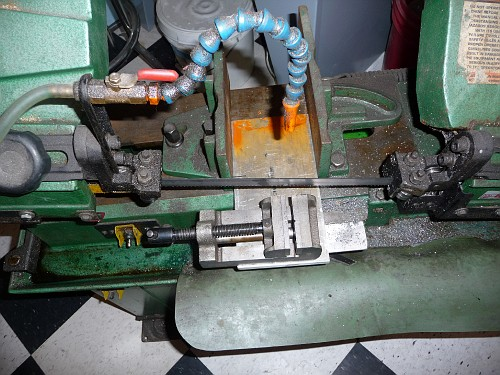 Horizontal Band Saw Small Piece Shelf Miller Welding
