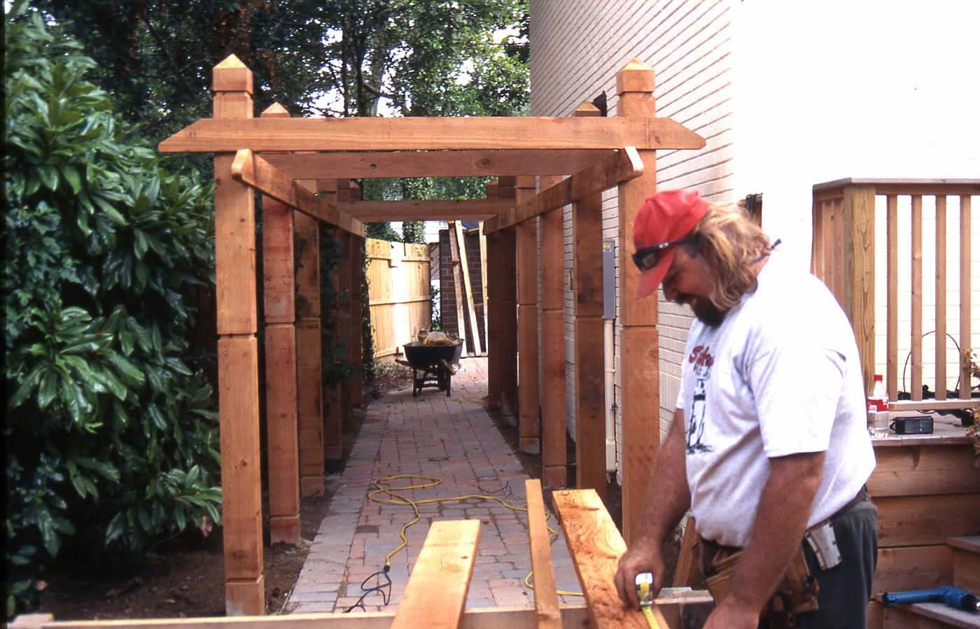 pergola construction by rick anderson