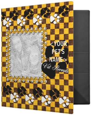 YOUR Pet's Vet Records Yellow Checker binder