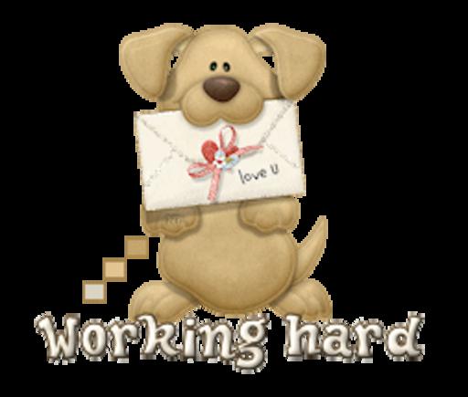 Working hard - PuppyLoveULetter