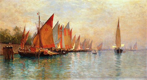 Row of Fishing Boats, Venice [undated]